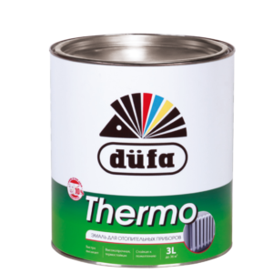 Эмаль Dufa Retail THERMO для отопительных приборов белая 2,5 л