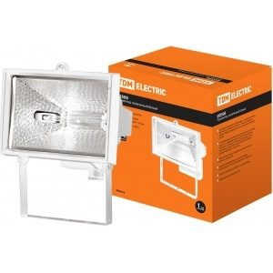 Прожектор галогеновый TDM ИО 1000 белый IP54 SQ0301-0005