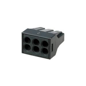 Клеммная колодка черная 6х(0,75-2,5) кв.мм КМБ-773-306 TDM