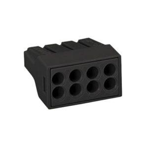 Клеммная колодка черная 8х(0,75-2,5) кв.мм КМБ-773-308 TDM
