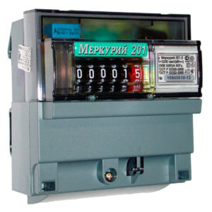 Счетчик однофазный электроный 5-60А Меркурий-201.5