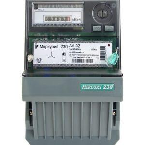 Счетчик трехфазный однотарифный электронный Меркурий-230АМ-02, 10-100 А