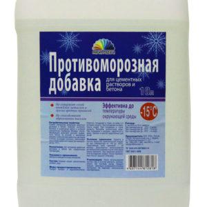 Антиморозная добавка РАДУГА 10 л (Формиат натрия до -15С)