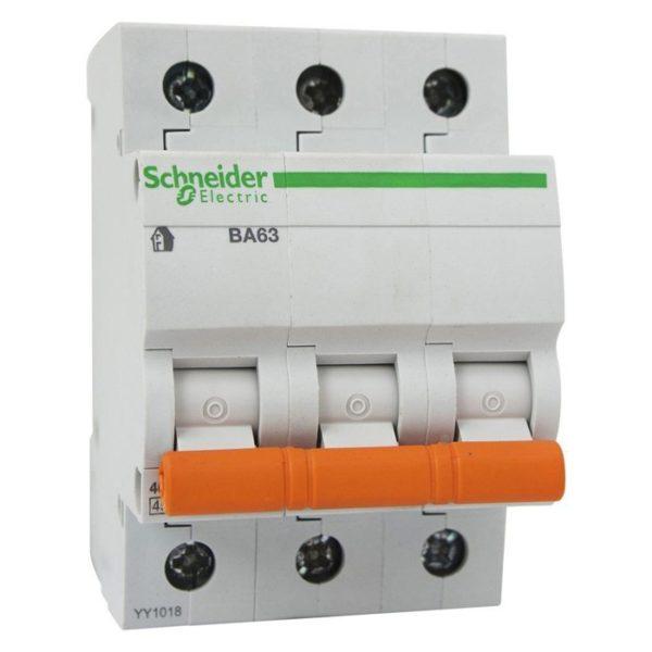 Автоматический выключатель Домовой ВА63 3P 63А Schneider Electric