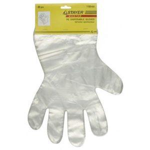 Перчатки одноразовые STAYER полиэтиленовые (20шт)
