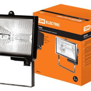 Прожектор галогеновый TDM ИО 1500 черный IP54 SQ0301-0008