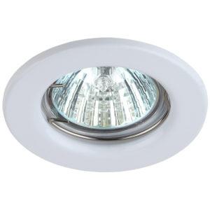 Светильник точечный MR16 неповоротный белый
