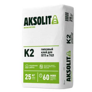 Клей гипсовый монтажный AKSOLIT К2 морозостойкий 25 кг