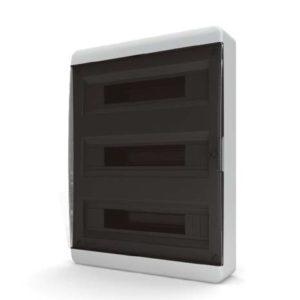 Щит пластиковый навесной 54 мод IP41 (кнопка) прозрачная черная дверца Tekfor