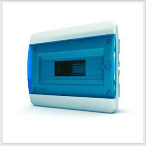 Щит пластиковый распределительный встраиваемый 12 мод IP41 синяя прозрачная дверца Tekfor