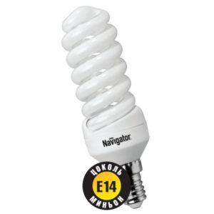 Лампа энергосберегающая SF E14-9W-840 Navigator