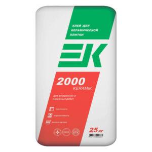 Клей для плитки ЕК 2000 25 кг