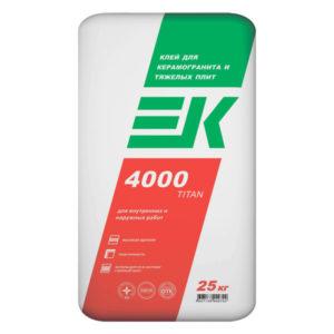Клей для плитки ЕК ТITAN 4000 25 кг