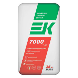Кладочно-клеевой состав ЕК 7000 GSB 25 кг зимний