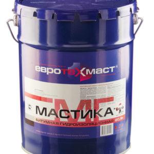Мастика битумная ЕВРОТЕХМАСТ 20 кг
