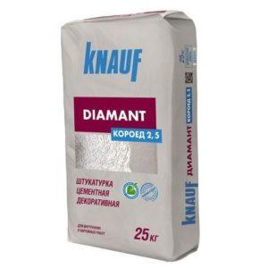 Штукатурка цементная Кнауф Диамант Короед 2,5 мм 25 кг