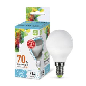 Лампа светодиодная ASD-Р45-7,5Вт-4000К-Е14-600Лм