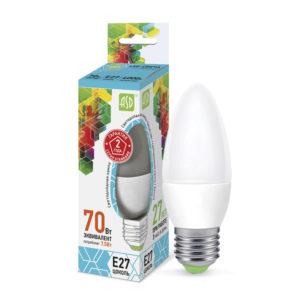 Лампа светодиодная ASD-C37-7,5Вт-4000K-Е27-675Лм