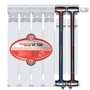 Радиатор алюминиевый РАДЕНА R500 4 секции (Италия)