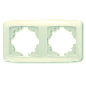 Рамка двухместная крем горизонтальная VIKO Carmen Opak