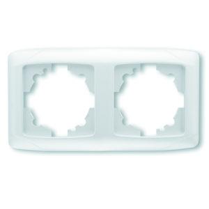 Рамка двухместная белый горизонтальная VIKO Carmen Opak
