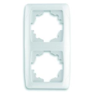 Рамка двухместная белый вертикальная VIKO Carmen Opak