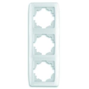 Рамка трехместная белый вертикальная VIKO Carmen Opak
