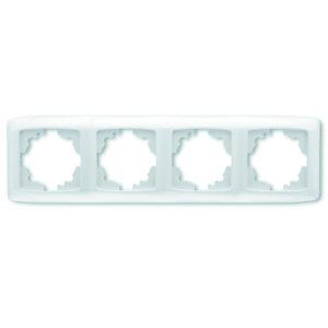 Рамка четырехместная белый горизонтальная VIKO Carmen Opak