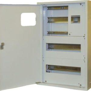Щит металлический навесной ЩКН3-2x12-1-СЭ1на 24 модулей под однофазный счетчик с нулевой и заземляющей шинами TDM