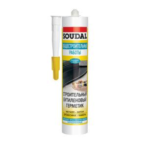 Герметик SOUDAL общестроительный бутеленовый белый 300 м (15)