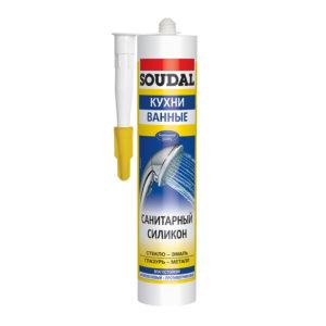 Силикон SOUDAL санитарный белый 300 мл (15)