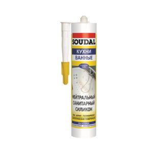 Силикон SOUDAL санитарный нейтральный белый 300 мл (15)