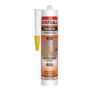 Клей SOUDAL каучуковый для стеновых панелей 48А 300 мл (15)