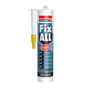 Клей-герметик SOUDAL Fix All эластичный гибридный белый 290 мл (12)