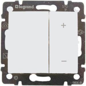 Светорегулятор четырехкнопочный 400Вт белый VALENA