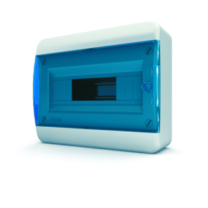 Щит пластиковый распределительный навесной 12 мод IP41,синяя прозрачная дверца Tekfor