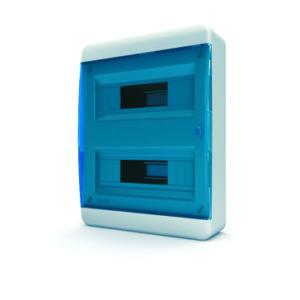 Щит пластиковый распределительный навесной 24 мод IP41 синяя прозрачная дверца Tekfor