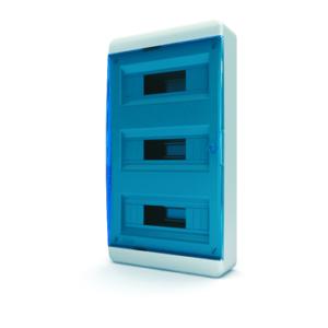 Щит пластиковый распределительный навесной 36 мод IP41 синяя прозрачная дверца Tekfor