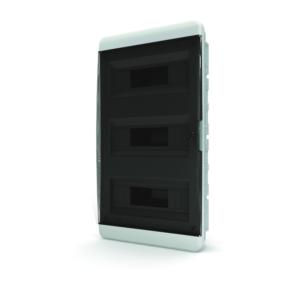 Щит пластиковый распределительный встраиваемый 36 мод IP41 черная прозрачная дверца Tekfor