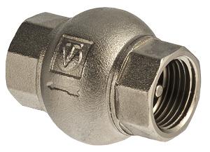 """Клапан обратный 1"""" с латунным золотником резьба внутренняя-внутренняя VALTEC"""