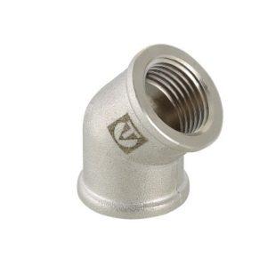 """Угол 1/2"""" 45гр резьба внутренняя-внутренняя никелированный латунный VALTEC"""
