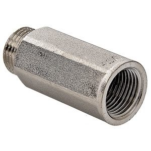 """Удлинитель 1/2""""- 50мм под ключ никелированный латунный резьба внутренняя-наружная VALTEC"""