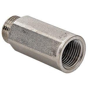"""Удлинитель 1/2""""- 25мм под ключ никелированный латунный резьба внутренняя-наружная VALTEC"""