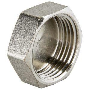 """Заглушка 1/2"""" никелированная латунная резьба внутренняя с шестигранной головкой VALTEC"""