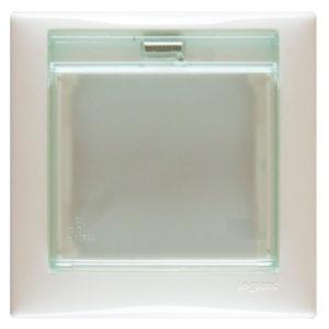 Рамка одноместная с крышкой белая IP44 VALENA