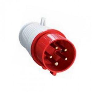 Вилка силовая 3Р+РЕ+N 32А 380В пластиковая IP44 TDM
