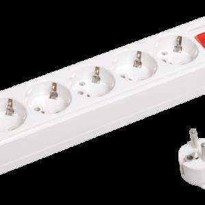 Удлинитель У05В с выключателем 5 места 2Р+PЕ/5м (3х1) 16А/250В TDM