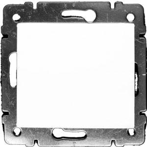 Механизм выключателя одноклавишный белый VALENA