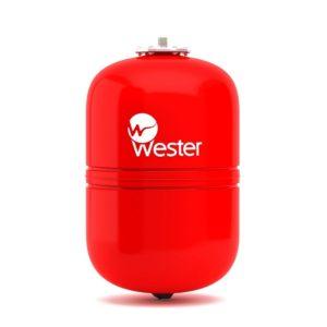 Бак расширительный 18л мембранный для отопления красный Wester