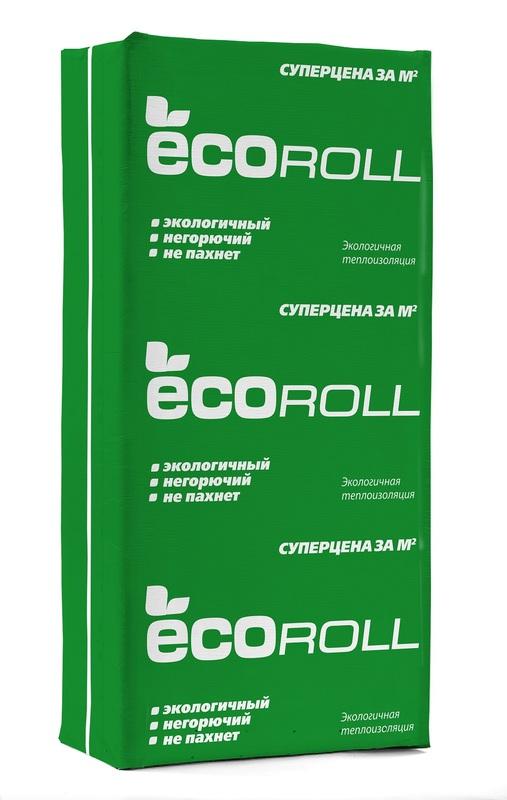 Экоролл (Плита) 040 (1230х610х50мм) 12 м2/0,6 м3/13 кг/м3 паллет 48 шт